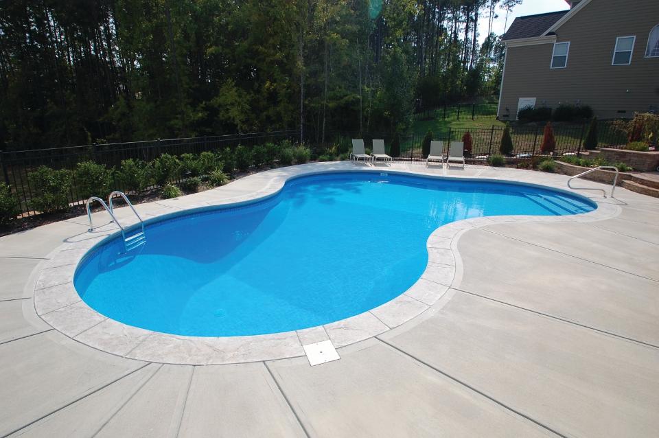 Mountain lake summer fun pools for 12x24 pool design